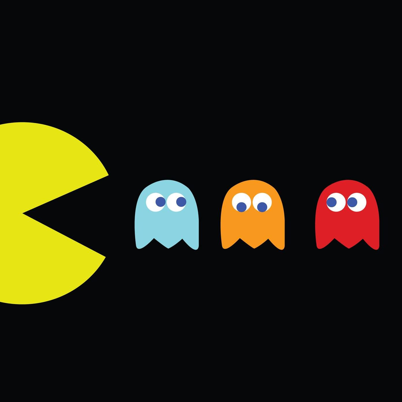 Pac-Man chasing ghosts